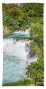 Krka Waterfall Croatia Beach Sheet