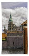 Kronborg Castle From The Moat House Beach Towel