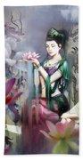 Kuan Yin Lotus Of Healing Beach Sheet