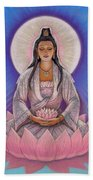 Kuan Yin Beach Towel by Sue Halstenberg
