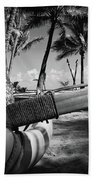Kuau Palm Trees Hawaiian Outrigger Canoe Paia Maui Hawaii Beach Towel