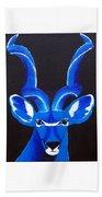 Kudu Blue Beach Towel