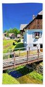 Kumrovec Picturesque Village In Zagorje Region Of Croatia Beach Towel
