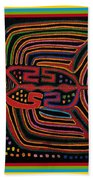 Kuna Indian Flying Fish  Beach Towel