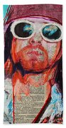 Kurt Cobain Beach Towel