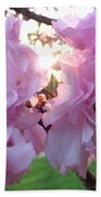Kwanzan Cherry Blossom Beach Towel