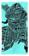 Kylo Ren - Star Wars Art - Blue Beach Towel