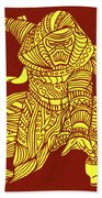 Kylo Ren - Star Wars Art - Red And Yellow Beach Towel