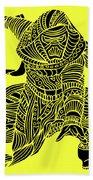 Kylo Ren - Star Wars Art - Yellow Beach Towel