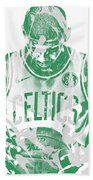Kyrie Irving Boston Celtics Pixel Art 5 Beach Sheet