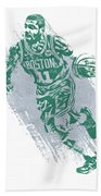 Kyrie Irving Boston Celtics Water Color Art 2 Beach Towel