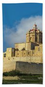 L-imdina Castle City Cathedral And Walls Beach Towel