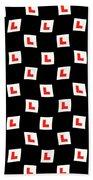 L-plate Wallpaper Beach Towel