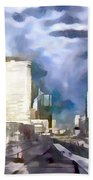 Paris La Defense Beach Towel