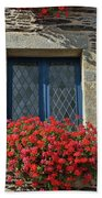 La Gacilly, Morbihan, Brittany, France, Window Beach Towel