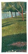 La Grande Jatte Beach Towel by Georges Pierre Seurat