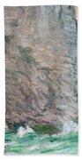 La Manneporte A Etretat Beach Towel by Claude Monet