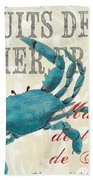 La Mer Shellfish 1 Beach Towel by Debbie DeWitt