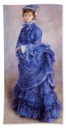 La Parisienne The Blue Lady  Beach Towel