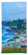 La Perla In Old San Juan Beach Towel