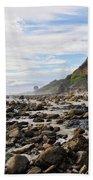 La Piedra Shore Malibu Dusk Beach Towel