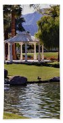 La Quinta Park Lake And Gazebo Beach Towel