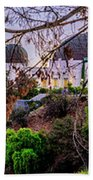 L A Skyline With Griffith Observatory - Panorama Beach Towel