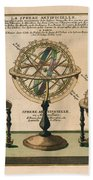 La Sphere Artificielle - Illustration Of The Globe - Celestial And Terrestrial Globes - Astrolabe Beach Towel