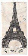 La Tour Eiffel Beach Towel by Debbie DeWitt