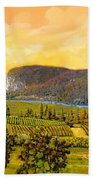 La Vigna Sul Fiume Beach Towel by Guido Borelli