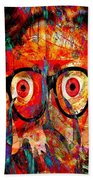 Label The Brain Through The Eyes - Lords Of Madness Beach Towel