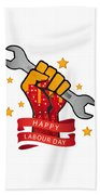 Labour Day  Beach Towel