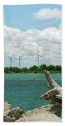 Lackawanna Wind Farm 5079 Beach Towel