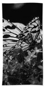 Lacy Black And White Beach Towel