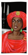 Lady At The Candelabra Beach Towel