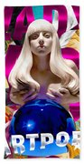 Lady Gaga Graphic Art Beach Towel