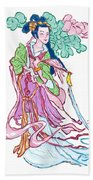 Lady He Of The Eight Immortals Beach Towel