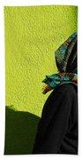 Lady In Green Beach Sheet