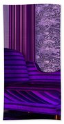 Lady In Lilac Room Beach Towel
