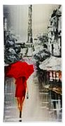 Lady In Paris Beach Towel