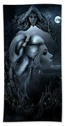 Lady In The Mirror Beach Towel