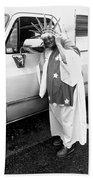 Lady Liberty Marge Stukel Parade Tucson Arizona  Beach Towel