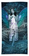 Lady Of Forest Beach Towel