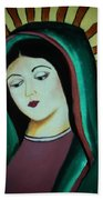 Lady Of Guadalupe Beach Towel