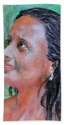 Lady Of India Beach Towel