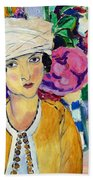 Lady Of Le Piviones Beach Towel