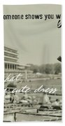 Lady Of The Derby Quote Beach Sheet