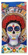 Lady Of The Loteria Beach Towel