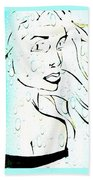 Lady Of The Water Beach Towel