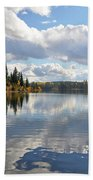 Lake And Clouds Beach Towel